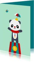Kinderkaart - Circus panda