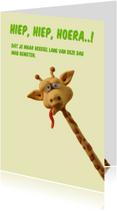 Kinderkaart gekke giraf
