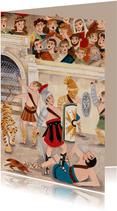 Kinderkaart Gladiators met tijger in de Arena