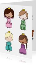 Kinderkaarten - Kinderkaart 'in iedereen schuilt een prinses'