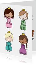 Kinderkaart 'in iedereen schuilt een prinses'