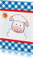 Kinderkaart met schaapje