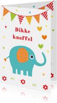 Kinderkaart olifant slinger