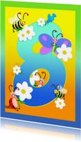 kinderkaartHoera 8 jaar