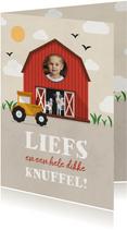 Kinderkaartje boerderij thema met foto