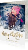 Kerstkaarten - Klassieke foto kerstkaart sneeuw