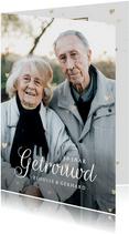 Klassieke huwelijksjubileum kaart 50 jaar met eigen foto