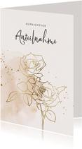 Klassische Beileidskarte mit Rose