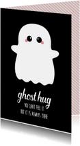 Knuffelkaart met spook