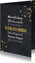 Kommunion Glückwunschkarte Goldakzente