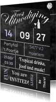 Krijtbord feest zelf invullen