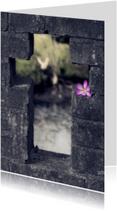kruis met bloem