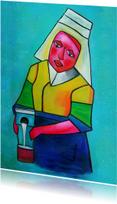 Kunstkaart Het melkmeisje