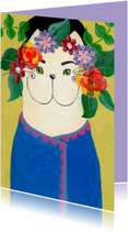 Kunstkaart Kat uit Hongarije