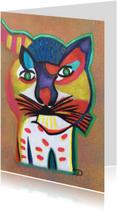 Kunstkaart Kat