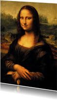 Kunstkaart Mona Lisa met banaan