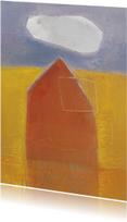 Kunstkaart schilderij huis wolk