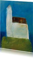 Kunstkaart schilderij kerk
