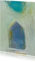 Kunstkaart sfeervol water huis