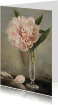 Kunstkaart van Anna Munthe-Norstedt. Stilleven met pioenroos