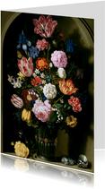 Kunstkaart van Bosschaert. Boeket bloemen