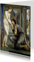 Kunstkaart van Edward Burne-Jones . Pygmalion