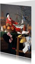 Kunstkaart van Ernst Berlach. Kerstfeest met cadeautjes