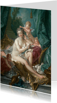 Kunstkaart van Fracois Boucher. Venus