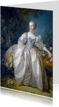 Kunstkaart van francois Boucher. Madame Bergeret