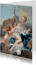 Kunstkaart van Francois Boucher. Venus en Cupido