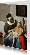 Kunstkaart van Gabriel Metsu. Het zieke kind