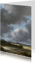 Kunstkaart van Jacob van Ruisdael. Gezicht op Alkmaar