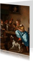 Kunstkaart van Jan Steen. De dansles