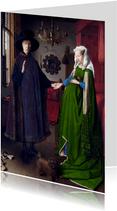 Kunstkaart van Jan van Eyck. Het Arnolfini portret