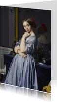 Kunstkaart van Jean-Auguste-Dominique Ingres. Comtesse