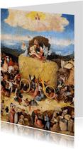 Kunstkaart van Jeroen Bosch. De Hooiwagen