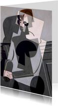 Kunstkaart van Juan Gris. Portret van een vrouw