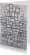Kunstkaart van Piet Mondriaan. Compositie IV