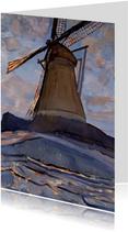 Kunstkaart van Piet Mondriaan. De molen