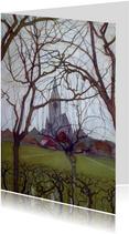 Kunstkaart van Piet Mondriaan. Kerk in Winterswijk