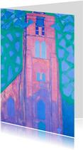 Kunstkaart van Piet Mondriaan. Zeeuwse kerktoren