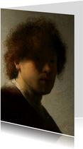 Kunstkaart van Rembrandt van Rijn. Zelfportret