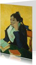 Kunstkaart van Vincent van Gogh. l'Arlesienne