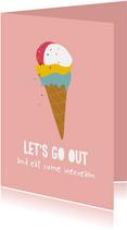 Let's go out - ijsje kaart