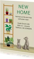 Leuk en vlot verhuisbericht met planten, hond en poes.