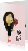 leuke en lieve verjaardagskaart voor jarige vriendin