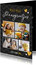 Leuke fotocollage kaart voor pasen met 6 eigen foto's