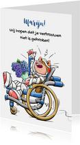 Sterkte kaarten - Leuke sterkte kaart, niet gebroken vertrouwen en bloemen