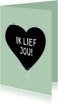 Leuke trendy valentijnskaart