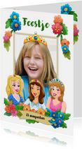Leuke uitnodiging voor een prinsessen-feestje